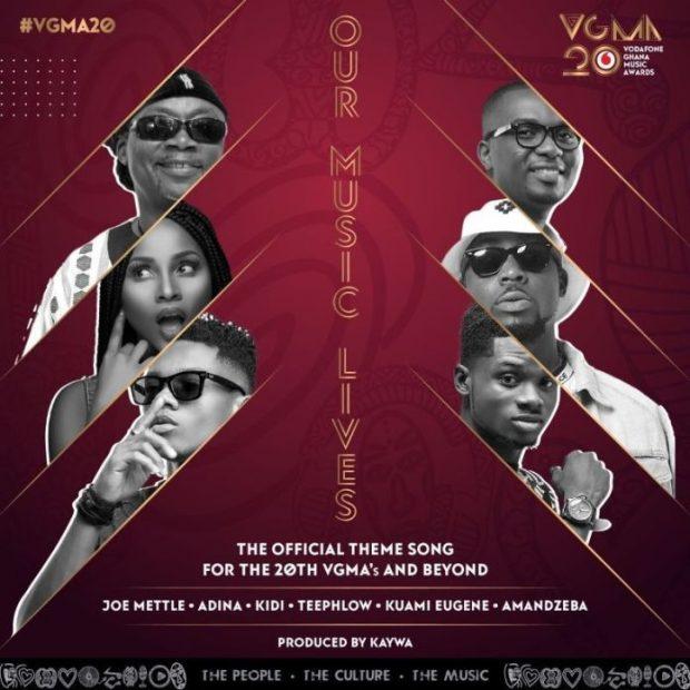 Download Mp3: Our Music lives by Amandzeba, KiDi, Kuami Eugene, Adina, Joe Mettle & Teephlow